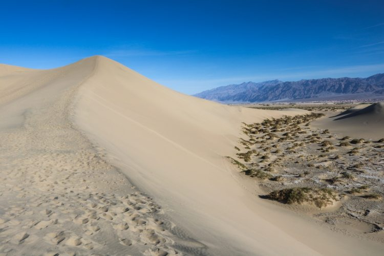 Sand dune, Mesquite Flat Sand Dunes in Death Valley