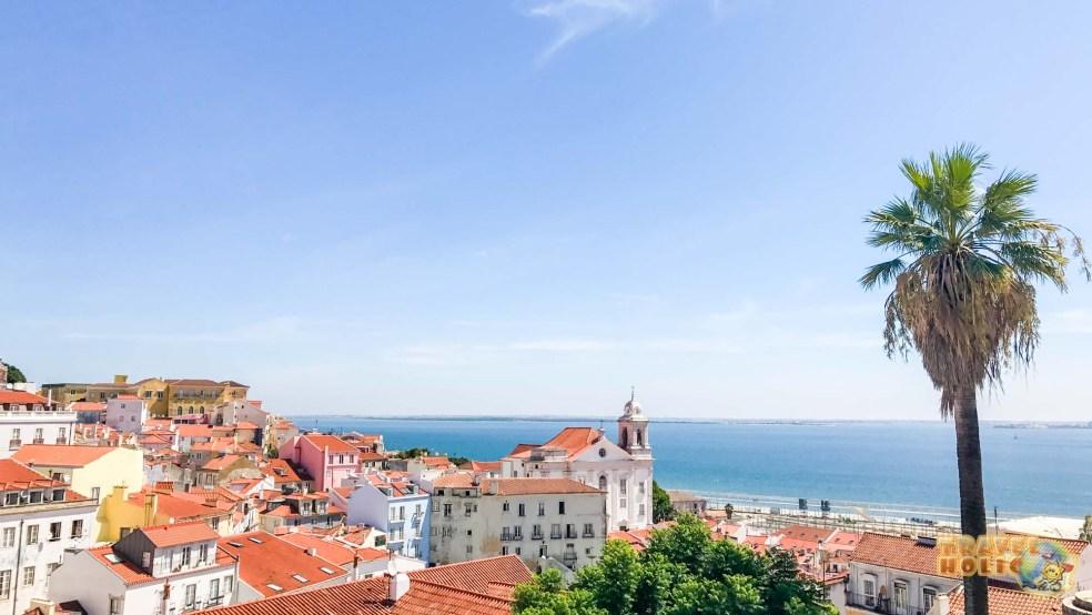 Vue sur le Tage à Lisbonne