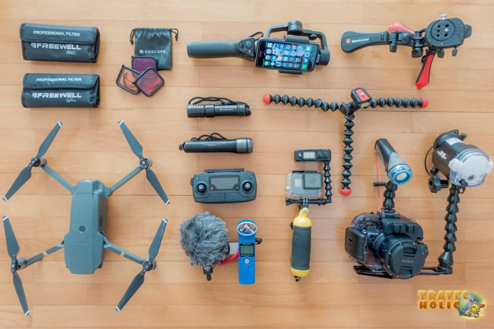 Notre équipement photo et vidéo pour le voyage