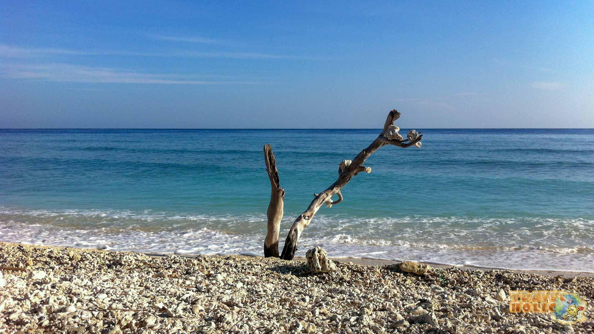 Point de vue depuis une plage à Gili Trawangan