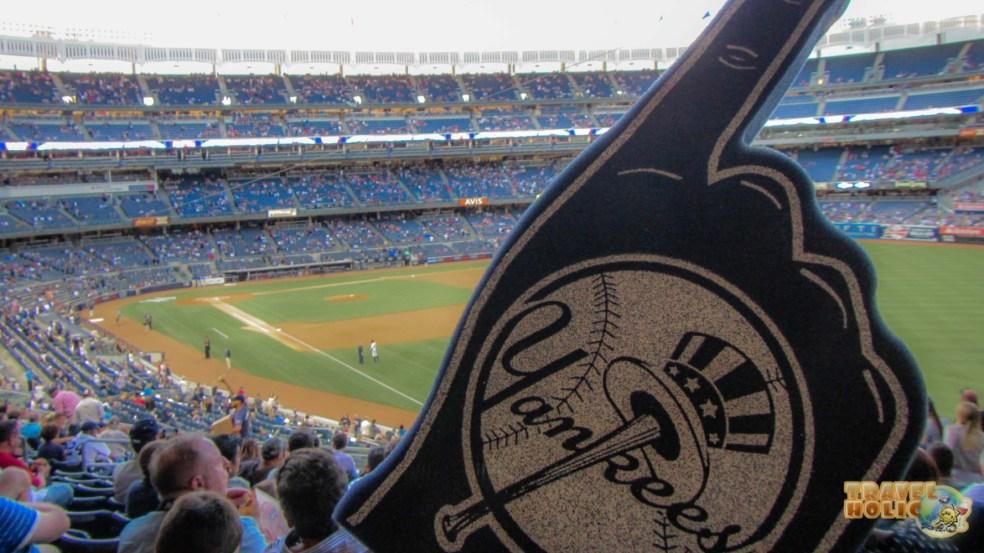 Ambiance d'un match de baseball au Yankee Stadium