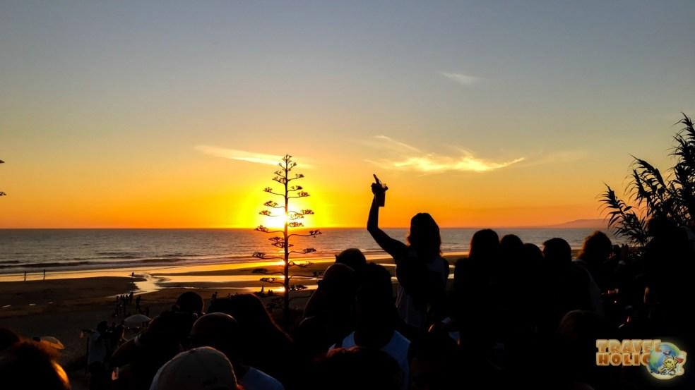 Coucher de soleil depuis la plage de Fonte da Telha