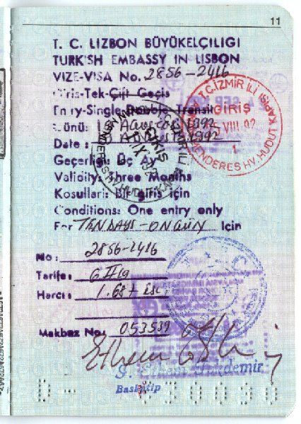Visas Turkey