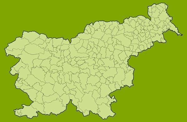 Map of municipalities in Slovenia