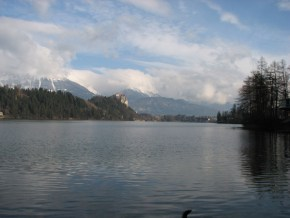 The view of Bled lake