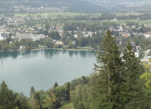 The view on Bled from outlier Straža