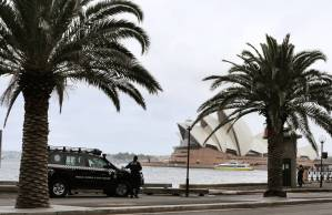 Even the bomb squad stopped for a look at the view