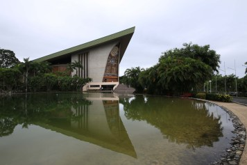 The Parliament building in Port Moresby