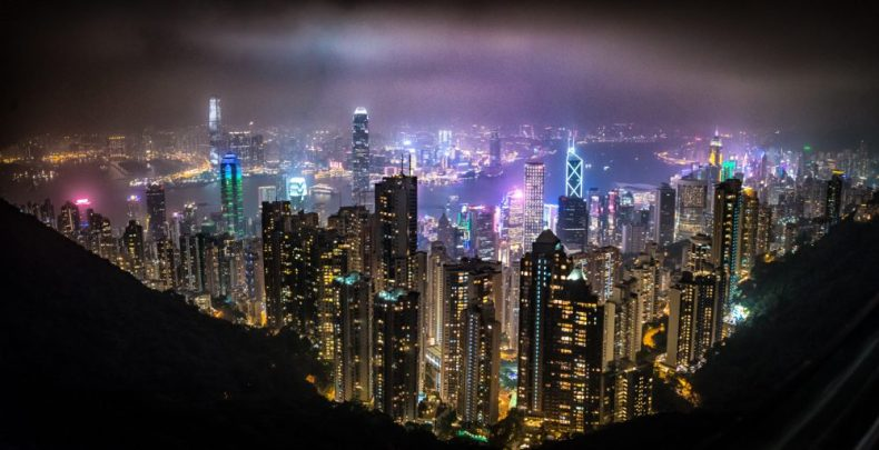 A picture of Hong Kong - Taken from The Peak just before our Cruise to Asia