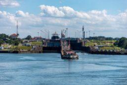 The Gatun Locks from the Atlantic Side