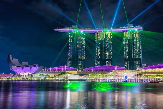 Spectra And Water Show, Marina Bay Singapore