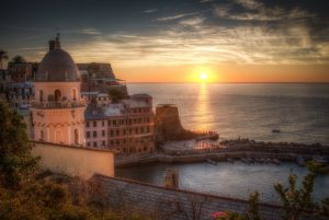 Sunset in Vernazza, Cinque Terre Italy