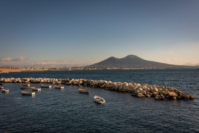 Mount Vesuvius and the bay of Naples