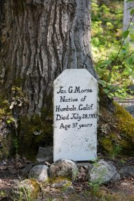 The old gold rush Cemetery