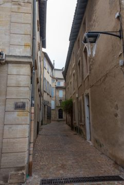 The cobblestone road of the old city