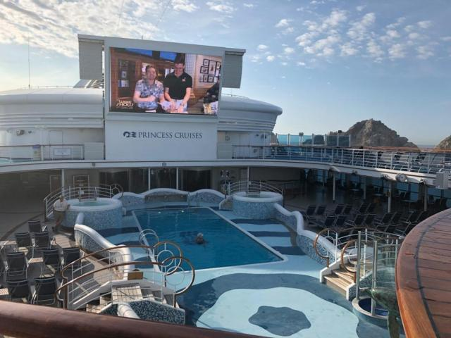 Swimming is a great way to stay fit on a cruise