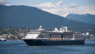 Holland America Cruise Ship in the Port of Vancouver