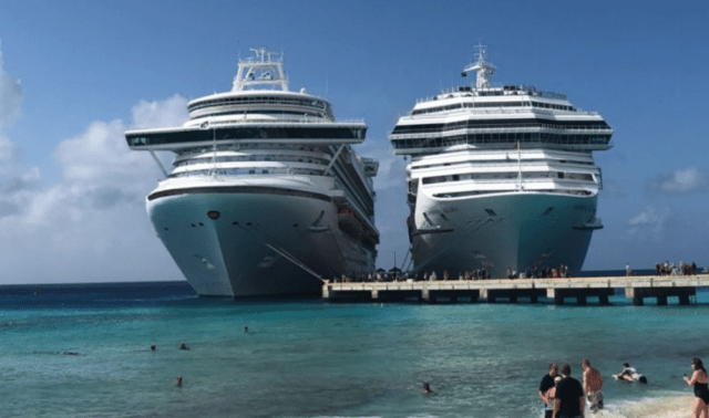 Some ports, like Grant Turk do not require a cruise ship excursion as they dock close to the beach