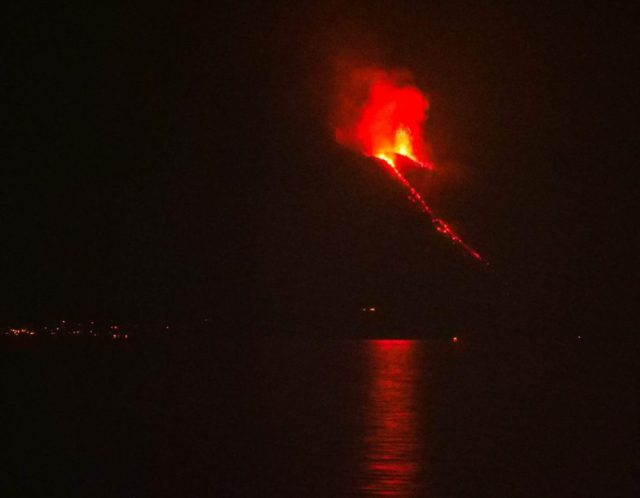 Stromboli - Taken From the Cruise Ship in the Mediterranean