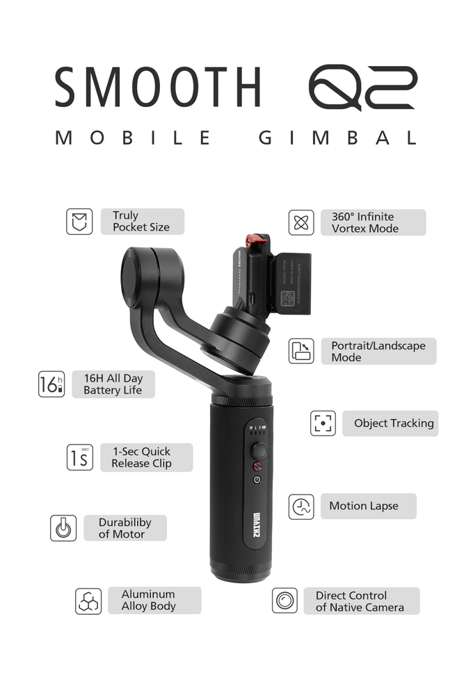Smooth Q2 - Travel Addicts Best Smartphone Gimbal 2019