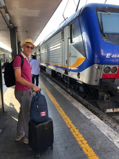 On the platform to Civitavecchia