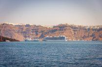 Emerald Princess Cruise Ship in the Mediterranean - Santorini, Greece
