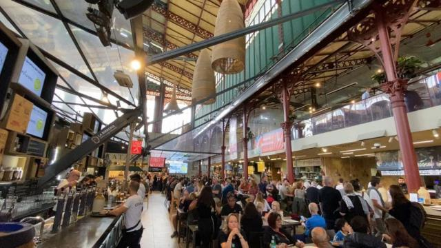 The restaurants at the Florence Market - Top floor