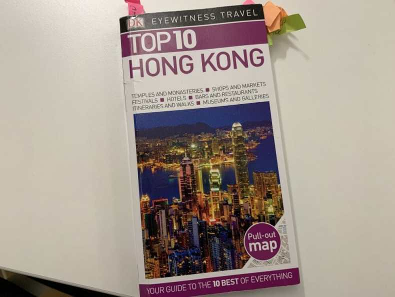 Dk Guide with my notes for Hong Kong on our Asian Cruise Adventure
