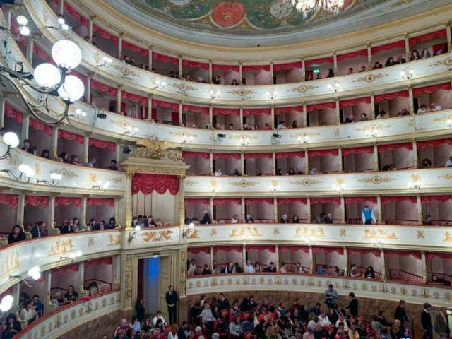 The Ducal box at the Pavarotti Theatre in Modena Italy