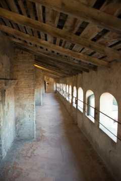 The Medieval walkways at Vignola Castle