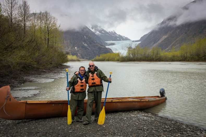 Rick and Andrea Ready to get in to our canoe in Alaska