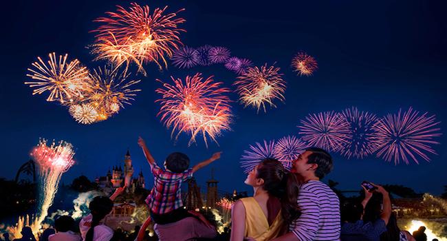 fireworks at universal studios singapore
