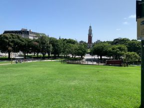 Beautiful greenery in Buenos Aires - on our Cruise to South America