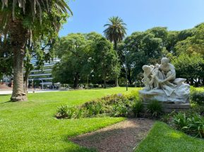 A park in Buenos Aires - on our Cruise to South America