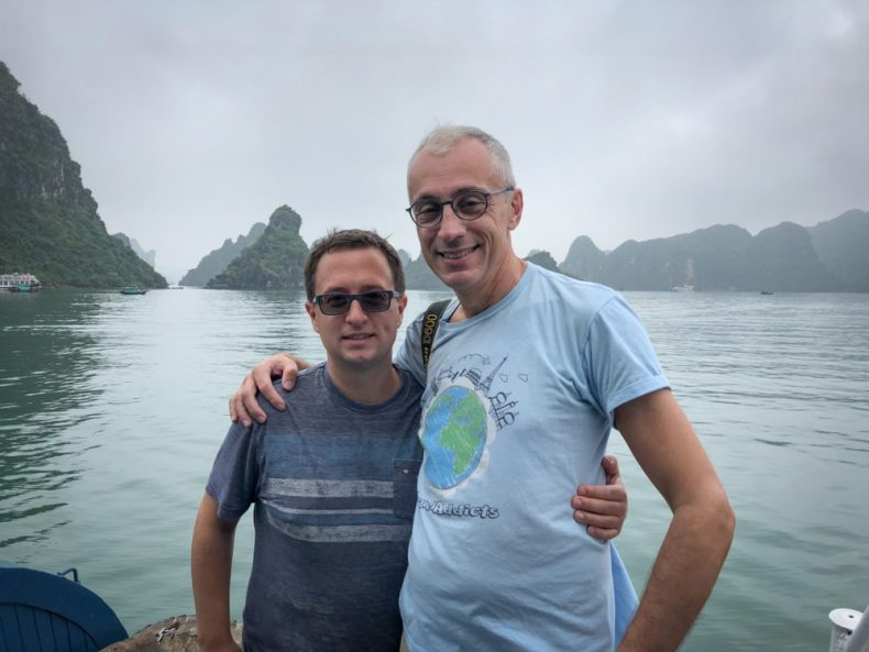 Rick and Andrea in Ha Long Bay