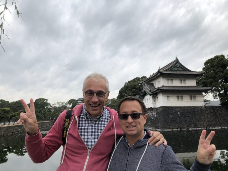 Rick and I at the Imperial Palace in Tokyo