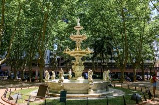 A water fountain in Montevideo, Uruguay - on our Cruise to South America