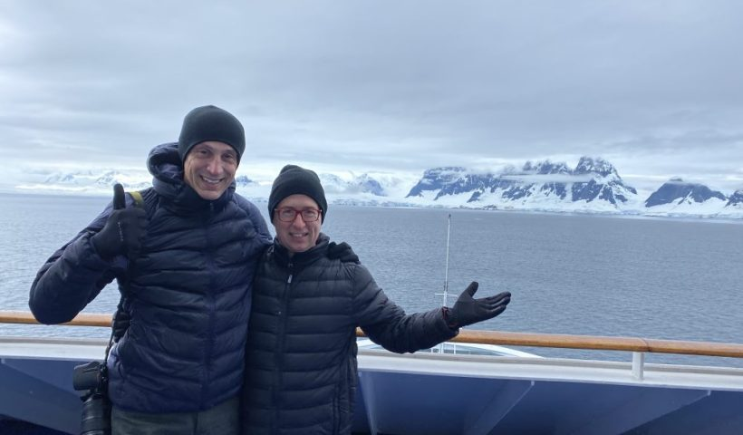 Rick and Andrea - Finally Arriving in Antarctica on their Cruise