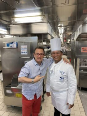 Rick and a Sous Chef on board the Coral Princess