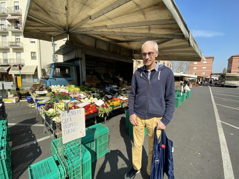 Andrea at the Market buying Fruits - Seems a little empty today.