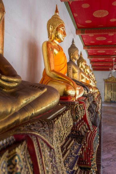 Buddaha's in Bangkok - a stop on our Asian Cruise Adventure