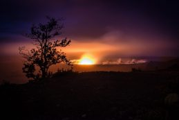 The glow from Kilauea crater