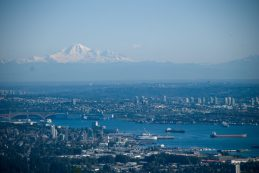 View of Vancouver and Mount Baker from Cypress Mountain