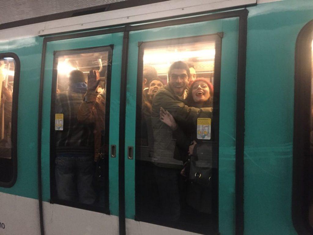 Peak season in Paris Subway