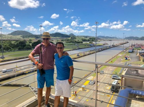 Rick and Andrea at Miraflores Locks