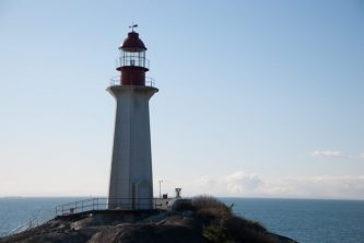 This is a photo of the Lighthouse at Lighthouse Park, West Vancouver BC