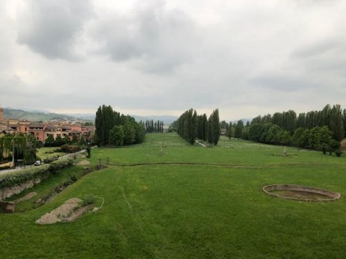Park adjacent to the Dukes Palace in Sassuolo Italy
