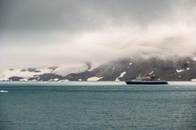 Explorer ship in the bay