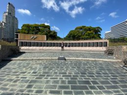 Falkland War Memorial, Buenos Aires - on our Cruise to South America