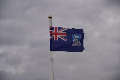 Falkland Islands Flag on our Cruise to South America